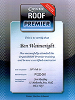 Crystic Ben Certificate - Approved Installer