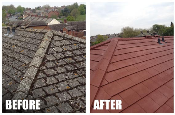 roof before and after roof coating